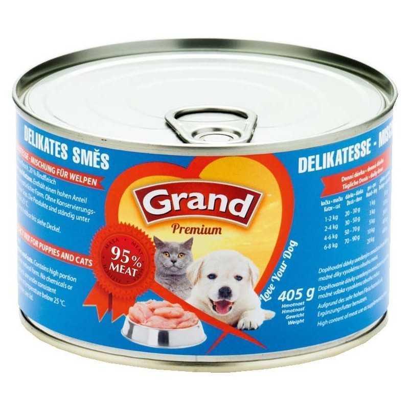 GRAND Premium delikates směs 405g pes-kočka