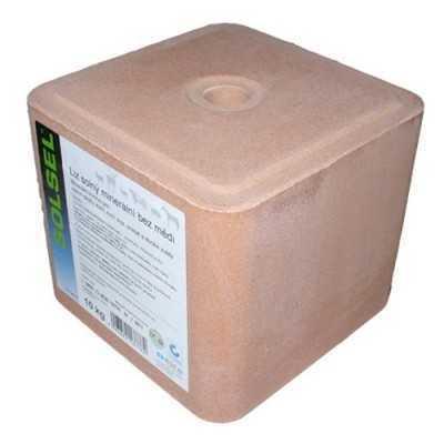 Lisovaná přírodní kamenná sůl 10kg -šedá