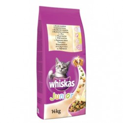 WHISKAS JUNIOR 14kg + Whiskas kapsička 4x100g
