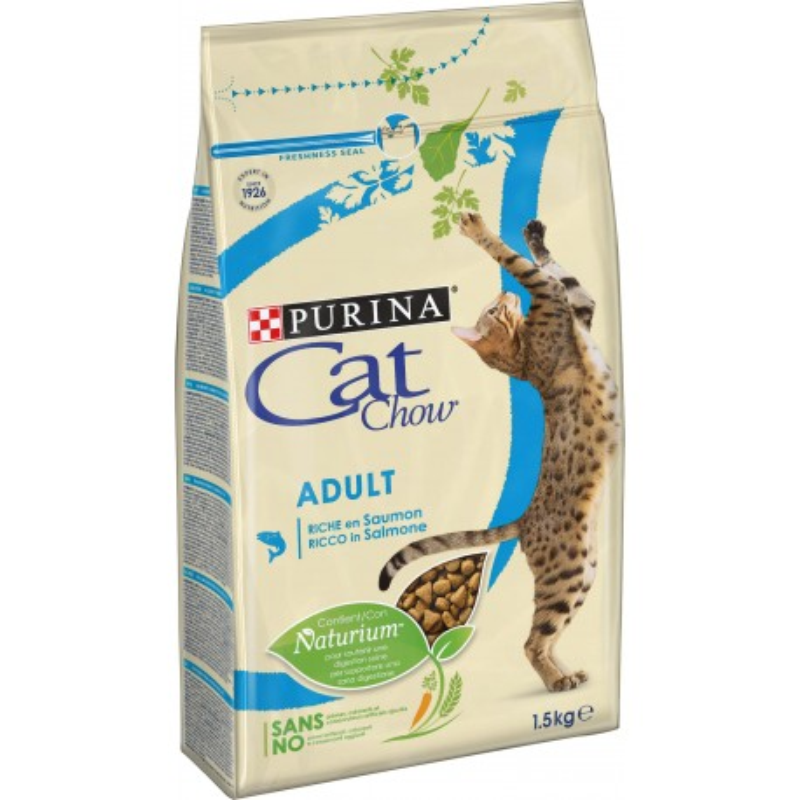 CAT CHOW 1.5kg Tuňák a Losos