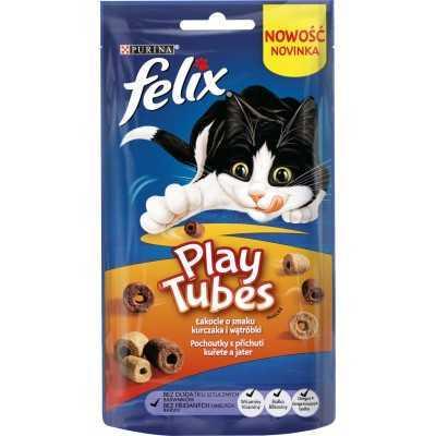 FELIX  Play Tubes s přichutí kuřete a jater 50g