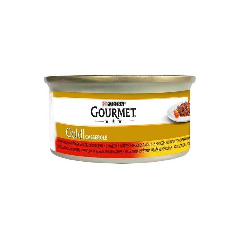 GOURMED GOLD hovězí+kuře grilované kousky 85g