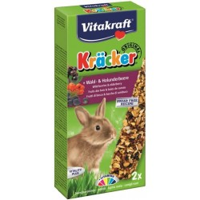 VITAKRAFT KRACKER KRÁLIK 2ks-lesní ovoce a černý bez