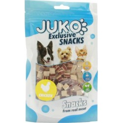 JUKO Snack Chicken Meat & Liver ,Fish Granul 70g