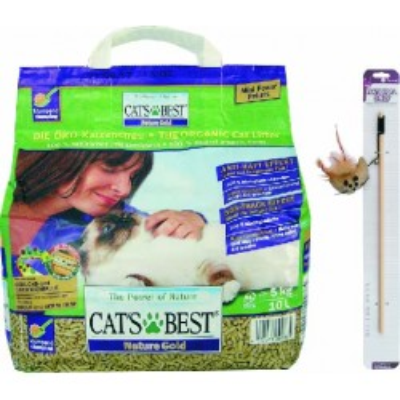 CAT BEST NATURE GOLD 10 litrů -5kg+HRAČKA
